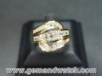 RI2507แหวนทองคำประดับเพชร