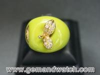 RI2511แหวนแอปเปิ้ลประดับเพชร