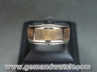 RI2617แหวนเงินประดับเพชรดำ