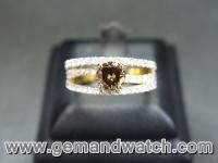 RI2652แหวนเพชรสี Fancy ประดับเพชร