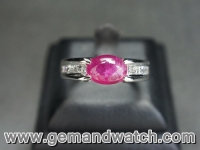 RI2662แหวนทับทิมประดับเพชร