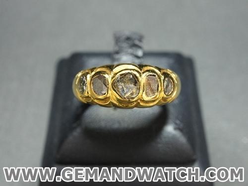 AT678แหวนเพชรซีก