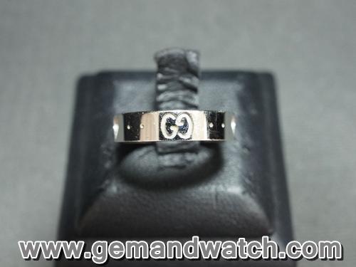 BN844แหวนทองคำขาว Gucci