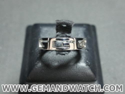 BN861แหวนทองคำขาว Gucci