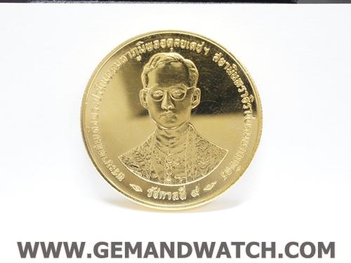 ML1042เหรียญฉลองราชสมบัติครบ 50 ปี 2539 ทองคำ