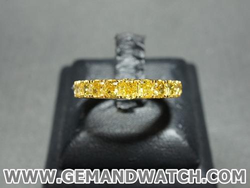 RI3437แหวนเพชรสี Fancy รอบวง