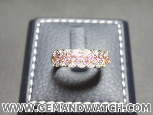 RI3607แหวนPink Sapphireประดับเพชร