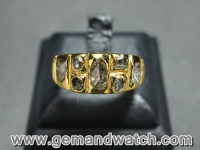 AT670แหวนทองคำประดับเพชรซีก