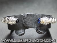 BG221กำไลข้อมือทองคำฝังไพลิน