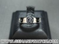 BN901แหวนทองคำขาว Gucci