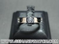 BN924แหวนทองคำขาว Gucci