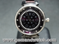 BW777นาฬิกาLouis Vuitton Tambour Disc Amaranto
