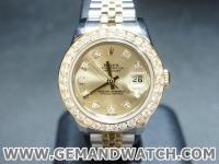 BW839นาฬิกาRolex DateJust Lady Size. ขอบเพชร