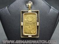 PD1390จี้แผ่นทองคำ99.9%ประดับเพชร