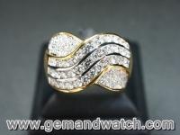 RI3335แหวนทองคำประดับเพชร