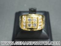 RI3471แหวนทองคำประดับเพชร