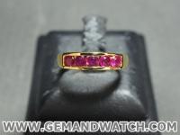 RI3503แหวนทองคำประดับทับทิม