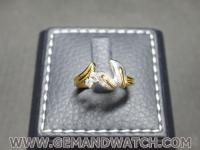 RI3659แหวนทองคำประดับเพชร