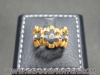 RI3665แหวนทองคำประดับเพชรรอบ
