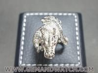RI3670แหวนมังกรทองคำขาว